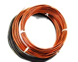 GREENARTZ 66 Feet Annodized Aluminum Wire 2mm+3mm - 33 feet Each for Garden Fencing Bonsai Electrical use Craft Model Making Pack of