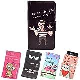 ikracase Slide Motiv Hülle für Hisense Sero 5 Smartphone Handytasche Handyhülle Schutzhülle Tasche Case Cover Etui Design 4 - meines Herzen