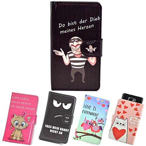 ikracase Slide Motiv Hülle für Phicomm Energy 4S Smartphone Handytasche Handyhülle Schutzhülle Tasche Case Cover Etui Design 4 - meines Herzen