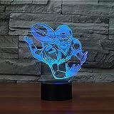 Rugby 3D Lampe De Table Led De Veilleuse, 7 Couleur Tactile Art Déco Lampe Maison Chambre Bureau Décor Pour Enfants D'Anniversaire De Noël Cadeau