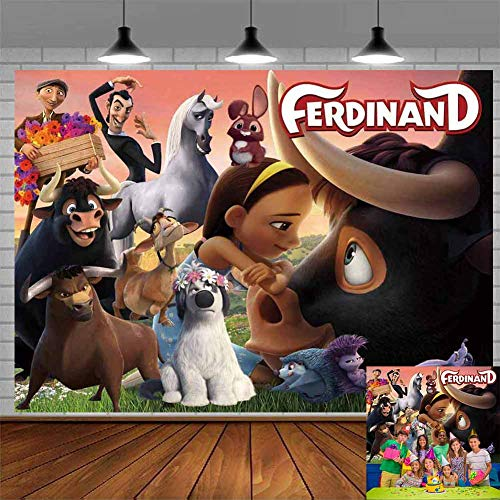 Ferdinand Backdrop Bull Movie Theme Photography Backdrop Party Photo Studio Background Props Birthday Party Decorations Banner