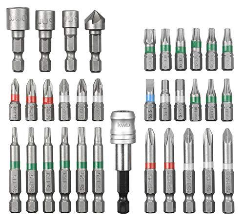 kwb by Einhell Bitsatz 34-tlg. S-Box Werkzeug-Zubehör (34 teiliger Bitsatz, passend für alle Bohrschrauber mit einer 1/4