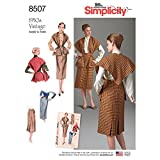 Simplicity 1950's Fashion Women's Vintage Skirt and Stole Sewing Patterns, Sizes 6-14