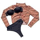 FRAUIT Bikini Vita Alta Donna Brasiliana Leopardato Costumi Ragazza Mare Due Pezzi Push Up Perizoma Costume da Bagno Ragazze Sexy Spiaggia Piscina Swimwear