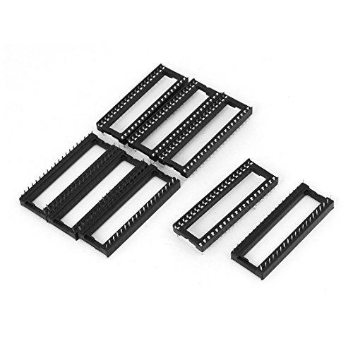 Aexit 2mm Pitch PCB S-older Typ 40 Pins DIP IC Chip Sockel Adapter Schwarz 8 Stücke (d451276349d546c676a896668dfd9986)