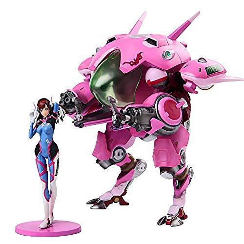 NoNo Overwatch Anime Figur Modell Beweglich D.Va Mecha Statue Home Dekoration Tägliches Leben Sammlerstück Kinderspielzeug Geschenk 25.5CM