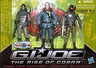 G.I. Joe The Rise of Cobra Exclusive Action Figure 3-Pack Destro, Cobra Viper Commando and Elite-Viper