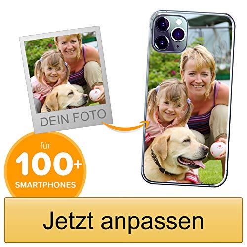 Coverpersonalizzate.it Handyhülle für Apple iPhone 11 Pro Max mit Foto-, Bildern- oder Text selbst gestalten- Die Handyhülle ist aus weichem transparentem TPU-Silikon-Gel Material