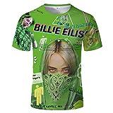 Billie Eilish Bad Guy Pop Singer Music Star Mens Womens 3D Print Cool Cute Soft Short Sleeve Polyester T Shirt T05744 XL
