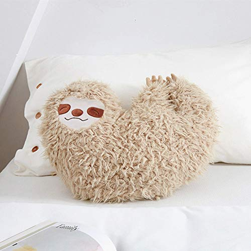 6'' Smiling Sloth Pillow, Animal Pillow