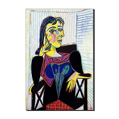 Retrato De Dora Maar Por Pablo Picasso Pinturas Al óleo Sobre Lienzo Reproducción De Arte Impreso En Lienzo Arte De La Pared Giclee Obra Para Decoraciones Del Hogar (Sin marco,80_x_120_cm)