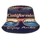 TTLUCKY Cappello da Pesca,Occhiali da Sole Estivi Riflettenti Ocean Wave Sea Beach Surfing Paradise,per Cappello da Sole da Viaggio Canottaggio Cappello da Pesca Cappello da Pescatore