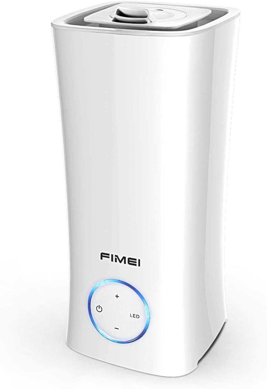 FIMEI Humidificador Ultrasónico 2L, Humidificador y Difusor de Aceites Esenciales 2 en 1, 3 Modos de Niebla con 7 Colores LED, Apagado Automático sin Agua, para Dormitorio, Casa, Oficina
