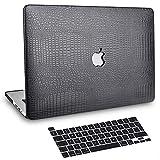 BELK Funda MacBook Pro 13 Pulgadas 2020-2016 con/sin Touch Bar, Patrón de Piel de Cocodrilo Cubierta de Cuero Dura Carcasa con Tapa del Teclado (Modelo A2338 M1 A2289 A2251 A2159 A1989 A1706 A1708)