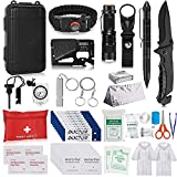 Napasa Survival Kit 56 in 1 Professional Survival Gear Tool Emergency Tactical First Aid Equipment Supplies Kits for Men Women Families Hiking Camping Adventures