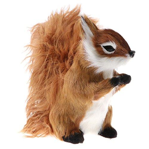 Homyl Mini Realistisch Natur Zootier Wildtier Tierfiguren Dekofigur Spielzeug für Kinder Geburtstagsgeschenk - Eichhörnchen - braun