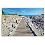 Premium Textil-Leinwand 120 x 80 cm Quer-Format Sanddünen
