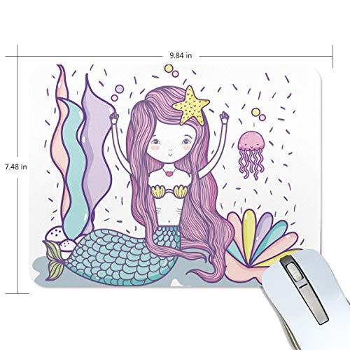 My Daily - Alfombrilla de ratón (25 x 19 x 0,5 cm), diseño de sirena