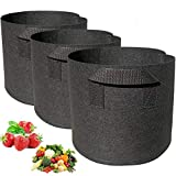 Momoco Plant Grow Bags 3 Pack 7 Gallon Gardening Plant Containers Bags,Breathable Nonwovens Fabric Plant Pots with Handles,Grow Bags for Plants/Garden Planter Bags/Potato Grow Bags