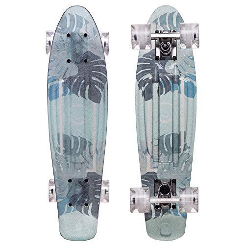 Cal 7 Complete Mini Cruiser - 23 Zoll Micro Board - Vintage Skateboard Schule Reise (Aloha)