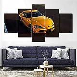 WKXZZS Tabla decoración Coche Supra Amarillo grupro - 200x100cm...