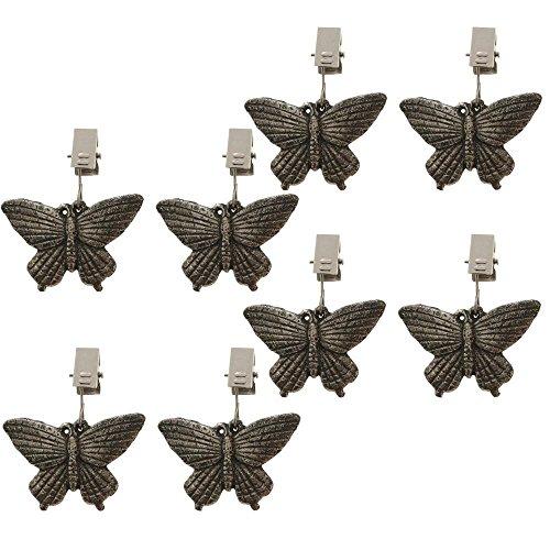 ToCi Papillon Poids pour nappe Lot de 8