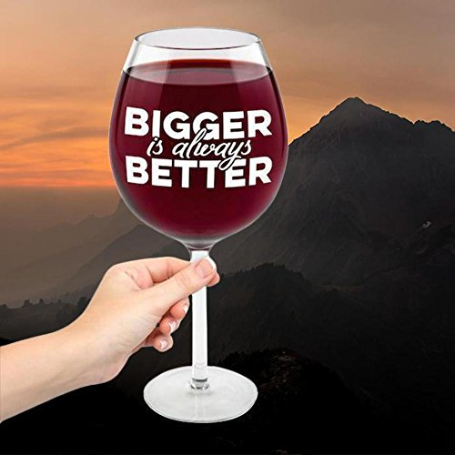BigMouth Inc Gigantic 'più grande è sempre meglio' Vino Vetro (detiene una bottiglia intera)