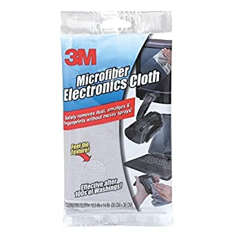 3M Microfiber Electronics Cleaning Cloth 12 x 14 White  4-Pack