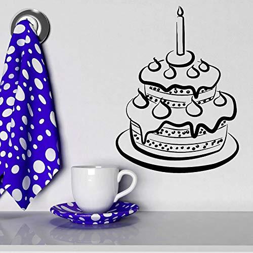 Tianpengyuanshuai behang voor cake, snoep, gebak, eten, keuken, muurstickers, vinyl, bakken, desserts, shop, snoep, afneembaar