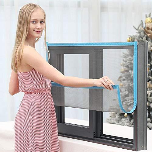 ROYWY Fliegengitter Jalousie Fenster Luft Kann Frei Strömen Selbstschließend Insektenschutz Verschiedene Größen für Balkontür Wohnzimmer Terrassentür/Blue / 150 x 180 cm