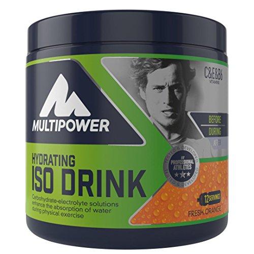 Multipower Hydrating Iso Drink (isotonisches Getränkepulver mit L-Carnitine – Sportgetränk ohne künstliche Süßstoffe), Fresh Orange (1 x 420g)