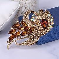 ブローチ レトロなカラフルな7つのカラフルな胸6色オプションのファッションハイエンドケース、ニードルドレス、衣料品アクセサリー (Color : 7)