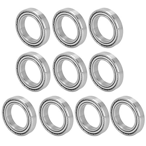 10 piezas S6906Z rodamientos de bolas de alta velocidad de rotación de acero, rodamientos de bolas de ranura profunda en miniatura sellados de goma doble, para patinetas (30 * 47 * 9 mm)