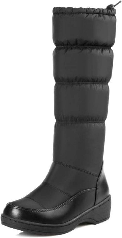 Super frist Christmas Winter Snow Boots Down Women Waterproof Footwear Platform Thick Fur High Knee Boots