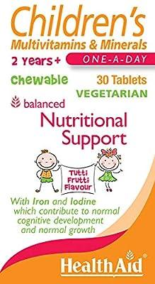 HealthAid Children's MultiVitamin + Minerals - 30 Vegetarian Tablets