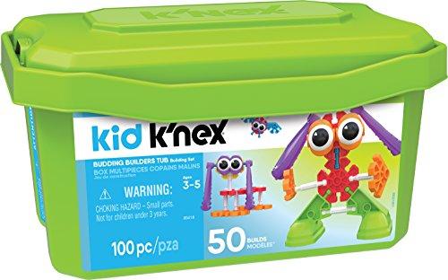 K'NEX 34361 - Bau- und Konstruktionsspielzeug Set Budding Builders Tub, Baukasten für angehende Baumeister mit 100 Teilen, Konstruktionsset für 50 Modelle, Kid K-Nex Box für Kinder von 3 bis 5 Jahre