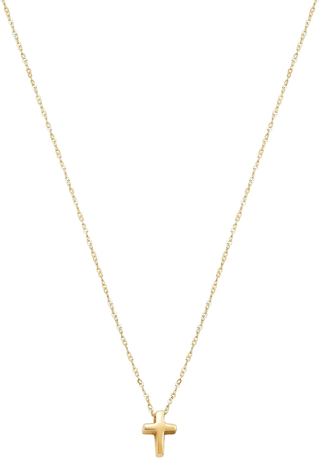 Welry 'Cross Pendant Necklace' in 14K Yellow Gold, 18