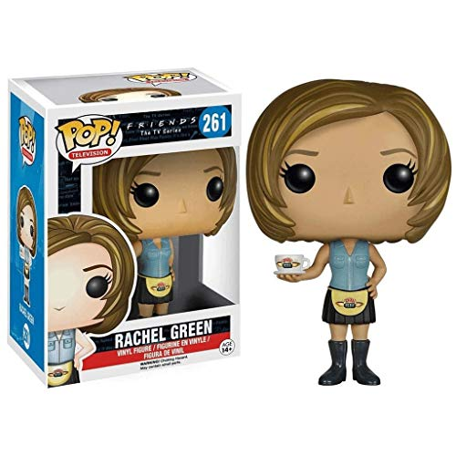 MXXT Funko Pop Television : Friends - Waitress Rachel Green 3.9inch Vinyl Gift for Boys Comedy Television Fans Chibi