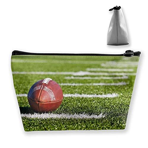 Trapez Kulturbeutel Tragbare Reisetasche Rugby Fußball wasserdichte Tasche