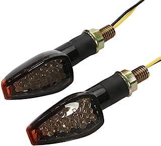 OSAN Intermitentes Moto 2 PC 14 LED Ámbar de Motos Lámparas Luces de Dirección Señales para Yamaha R1 R6 FZ XT WR TW TT-R
