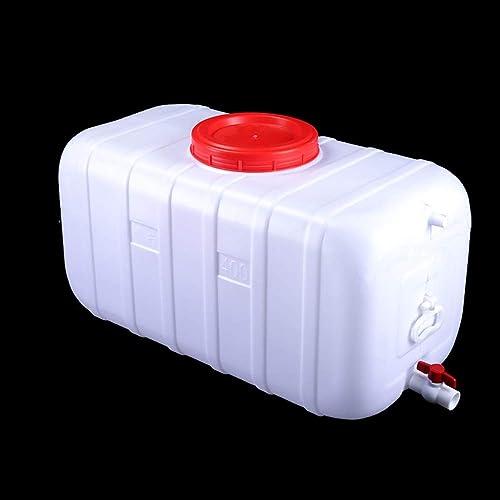 JB-Shuixiang Réservoir d'eau Blanche avec Robinet, Récipient De Stockage Horizontal en Plastique épais, Seau Rectangulaire avec Couvercle, avec Robinet D'arrêt d'eau (Taille   25l)