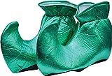 Forum Novelties Women's Deluxe Costume Cloth Elf Shoes, Green, One Size