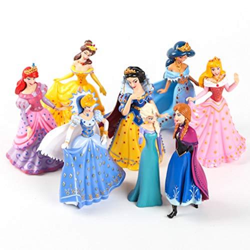 8st Figur Toy Frozen Assepoester Doornroosje Sneeuwwitje Zeemeermin Prinses Taartdecoratie