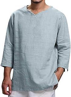 Uomo Camicia da notte man CORTA 100/% cotone scollo a V in oversize 2xl a 10xl