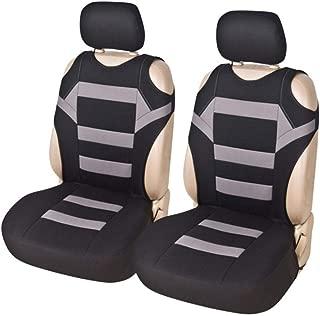 S WIDEN ELECTRIC 2PCS Car Seat Covers, Universal Mesh Sponge seat Cushion Cover, T Shirt Design, Front Seat Covers, Cushion Covers Set for Car/Truck/Van