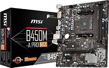 MSI ProSeries AMD Ryzen 2ND and 3rd Gen AM4 M.2 USB 3 DDR4 D-Sub DVI HDMI Crossfire ATX Motherboard (B450-A Pro Max) (B450...