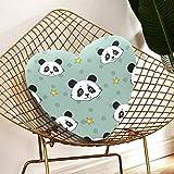 JOCHUAN Farbige Dekokissen Kinder Panda Stars Handgezeichnete Teen Girl Dekokissen für Schlafzimmer...