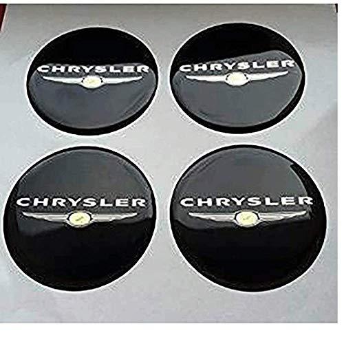 4 Piezas Coche Tapas Centrales Llantas Para Chrysler, 56 Mm Tapas Rueda...
