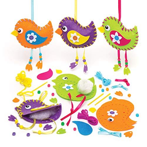 Baker Ross Aw305 Kits de Costura para Crear Pájaros Decorativos (Paquete de...