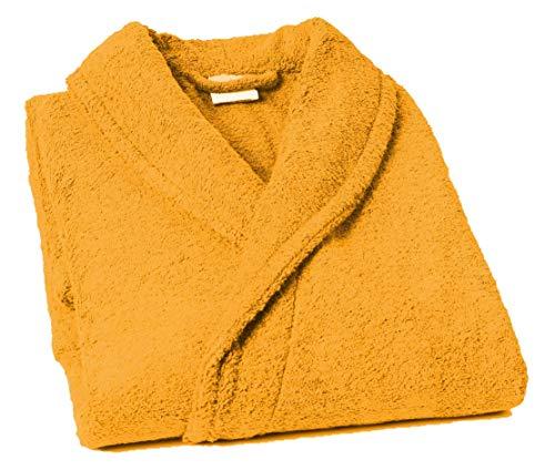 Lasa Pure Albornoz con Cuello Tipo Smoking, algodón 100%, Oro, XL